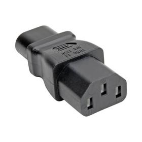 Power Cord Adapter, C8 to C13 - 10A, 125V, Black