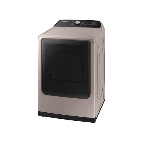 Samsung - 7.4 cu. ft. Smart Electric Dryer with Steam Sanitize+ in Champagne