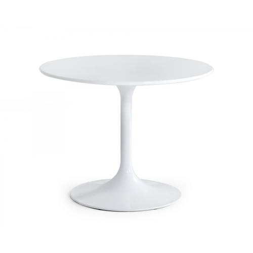 Modrest Karen - Mid-Century White Round Dining Table