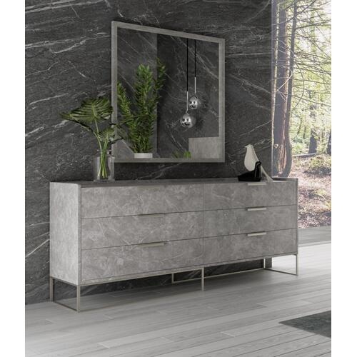 Nova Domus Marbella - Italian Modern Grey Marble Dresser