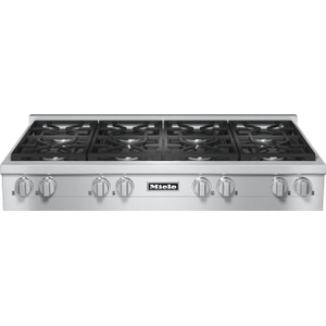 RangeTop with 8 burners for professional applications