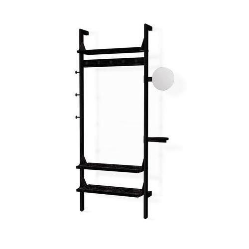 Product Image - Branch-1 Entryway Unit Black Uprights Black Brackets Black Shelves