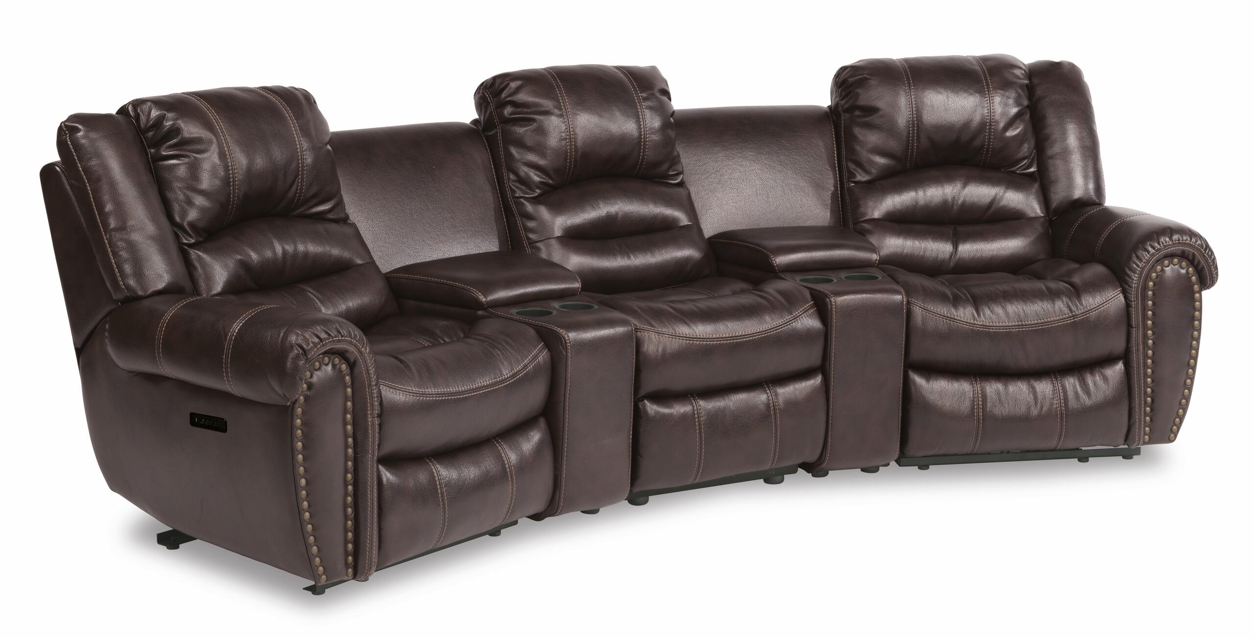 FlexsteelTown Power Reclining Sectional With Power Headrests