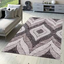 "Sorrento 721 Shag Area Rug by Rug Factory Plus - 5'4"" x 7'3"" / Silver"