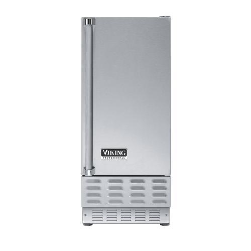 """Viking - Stainless Steel 15"""" Ice Machine - VUIM (Right Hinge Door)"""