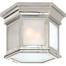 Visual Comfort CHC4125PN-FG E. F. Chapman Club 3 Light 12 inch Polished Nickel Flush Mount Ceiling Light in Frosted Glass