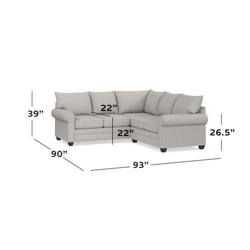 Straw Alexander Small L-Shaped Sectional