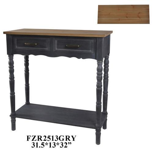 Product Image - 31.5X13X32 CONSOLE TABLE MDF+VENNERM, BLACK, 1 PC PK, 3.53'