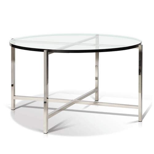 Bergen - Glass Top Round Coffee Table