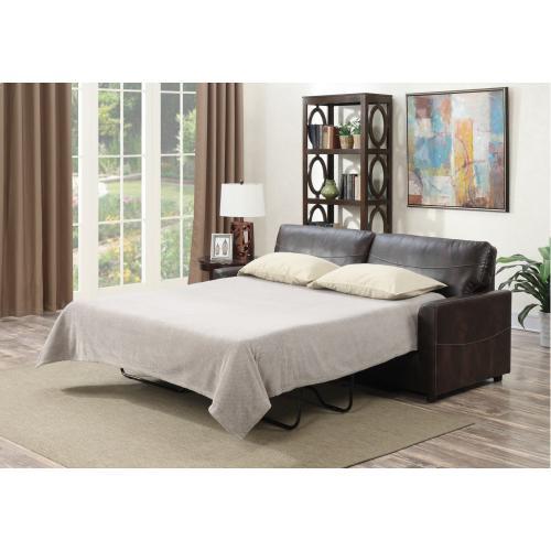 Emerald Home Slumber Queen Sleeper W/gel Foam Mattress Coffee U3215-50-25