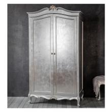 GA Chic 2 Door Wardrobe Silver