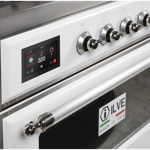Gallery - Majestic II 36 Inch Dual Fuel Natural Gas Freestanding Range in White with Chrome Trim