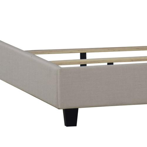 Shaped Nailhead Upholstered Queen Footboard and Side Rails