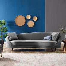 Echo Performance Velvet Sofa in Gray