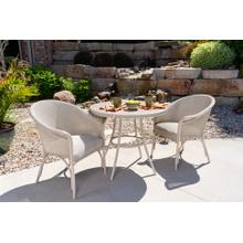 """See Details - All Seasons 33"""" Round Bistro Table with Taupe Glass"""