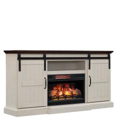 """Hogan TV Stand for TVs up to 70"""", Weathered White (Electric Fireplace sold separately)"""