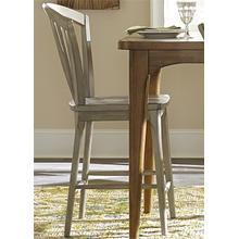 View Product - Windsor Counter Chair - Gray