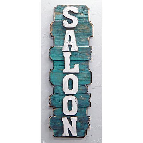Vertical Turq. Back Saloon