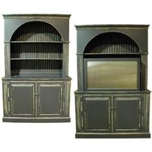 ITEM - 340-700 Arched bookcase with TV cabinet 340-700