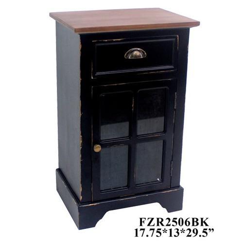 """Crestview Collections - 17.75X13X29.5"""" 1 DRAWER 1 DOOR CABINET 1PC PK, 5.93'"""