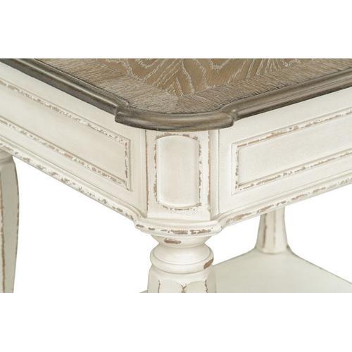 Stevenson Manor End Table, Distressed White