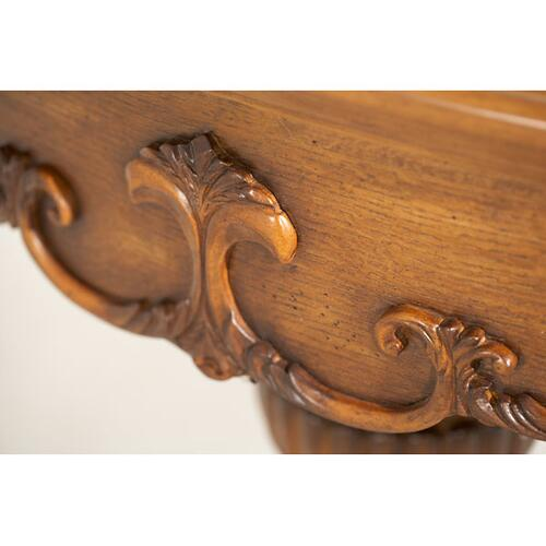 Grand Traditions Console Table Heritage Oak