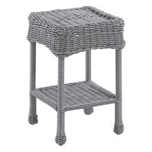 Maui Resin Wicker/ Steel Outdoor Side Table - Weathered Gray