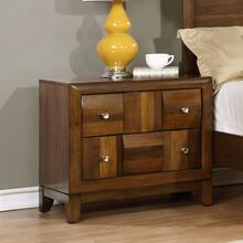 See Details - Calais Walnut Finish Solid Wood Construction Nightstand