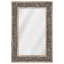 Rectangle Mirror with Bead Border