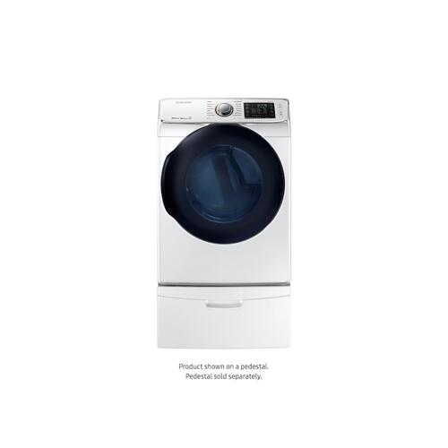 7.5 cu. ft. Smart Electric Dryer with MultiSteam™ in White