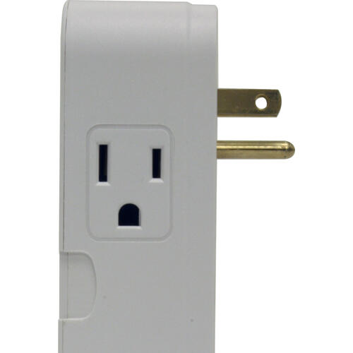 2 Outlet Direct Plug-In Surge Protector with Tel/Lan
