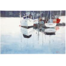 Nautical Reflection  36in X 24in X 2in  Printed & Hand Embellished Stretched Canvas