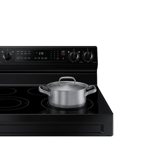 Gallery - 6.3 cu. ft. Smart Freestanding Electric Range with No-Preheat Air Fry & Convection in Black