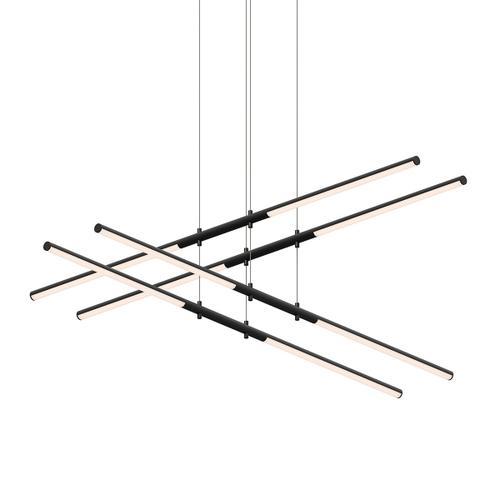 Sonneman - A Way of Light - Tik-Tak® LED Pendant [Size=Stack 2-Tier, Color/Finish=Satin Black]
