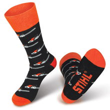 Show everyone your love for STIHL chain saws with these stylish FARM BOSS™ socks!