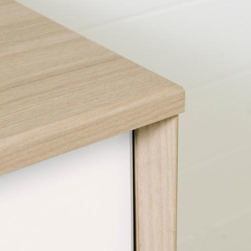 Yodi - Changing Table with Drawers, Soft Elm and White
