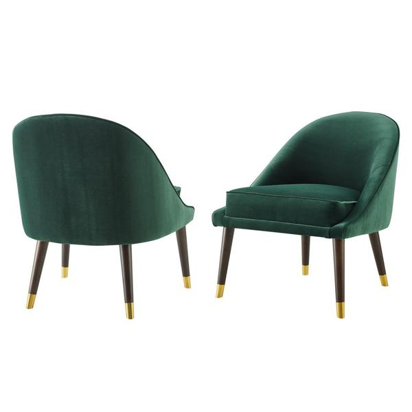 Avalon Velvet Accent Chair - Green