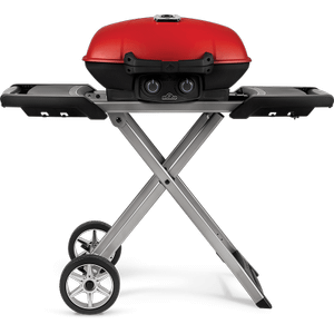 Napoleon BBQTravelQ 285X with Scissor Cart and Griddle , Red , Propane