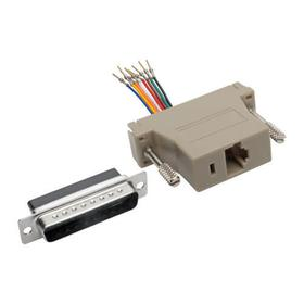 DB25 to RJ45 Modular Serial Adapter (M/F), RS-232, RS-422, RS-485