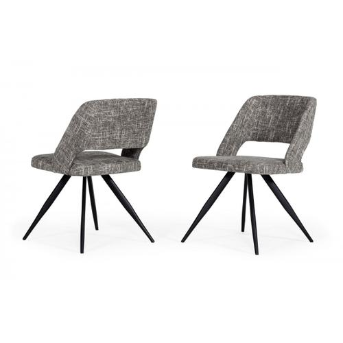 Palmer - Modern Grey Fabric Dining Chair (Set of 2)