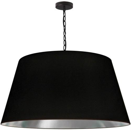 1lt Brynn X-large Pendant, Blk/sv Shade, Black