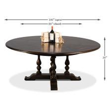 See Details - Walnut Jupe Dining Table, Ex-Large,Ebony
