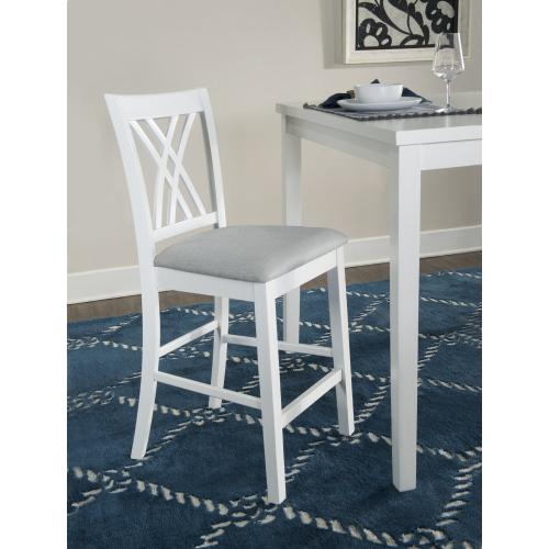 5-piece Counter Dining Table Set, White