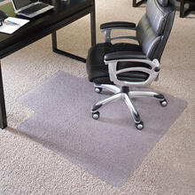 View Product - 45'' x 53'' Big & Tall 400 lb. Capacity Carpet Chair Mat with Lip