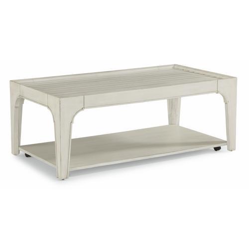 Flexsteel - Harmony Rectangular Coffee Table with Casters