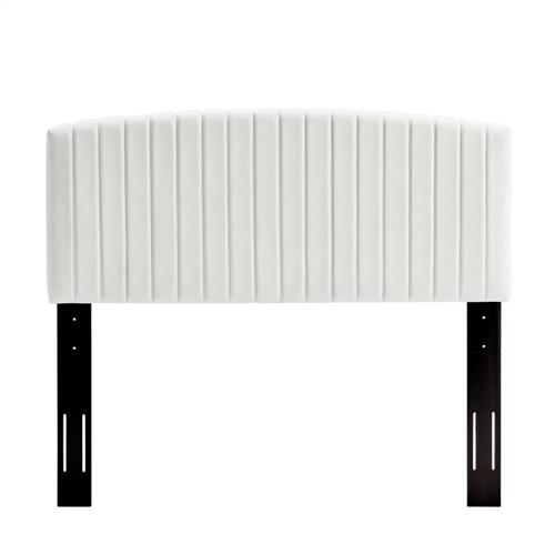 Modway - Rebecca Performance Velvet Twin Headboard in White