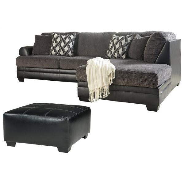 See Details - 2-piece Sectional With Ottoman