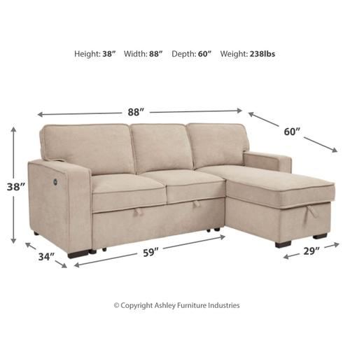 Signature Design By Ashley - Darton 2-piece Sleeper Sectional With Storage