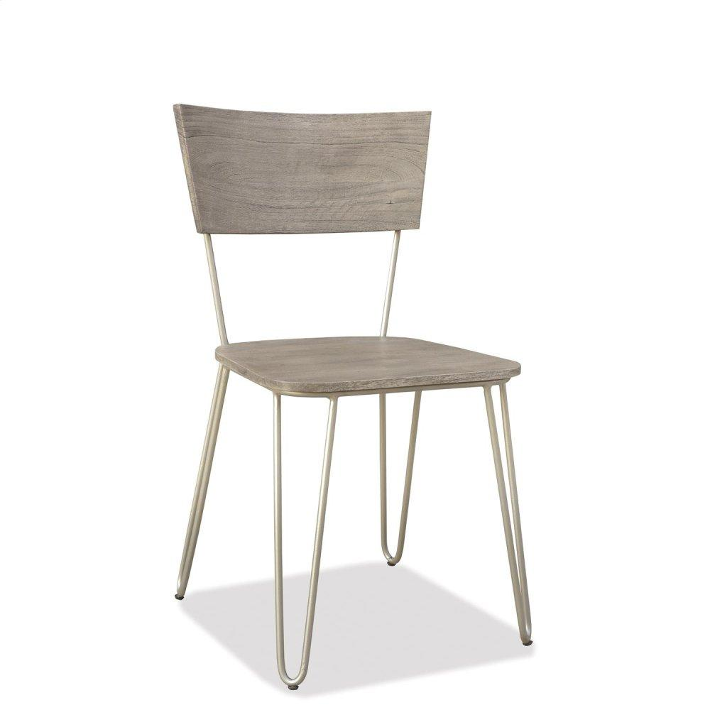 See Details - Waverly - Side Chair - Sandblasted Gray Finish