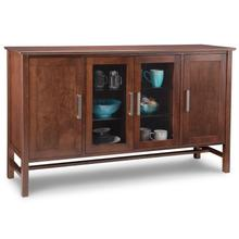 Brooklyn Sideboard w/2 Glass & Wood Doors & 2/Wood & Glass Adjusts.